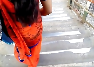 Big ASS In Orange Saree !
