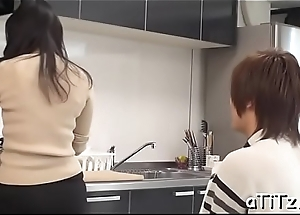 Naughty fat breasts japanese blowjob