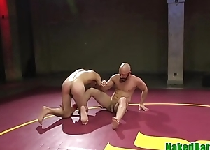 Dominant wrestling hunk spanking ass of a concerned agree with