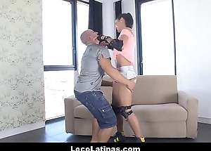 Cute Spanish Latina Teen In Roller Skates Fucked