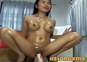 Asian Masturbating Dildo Oil Tight - 69club.xyz