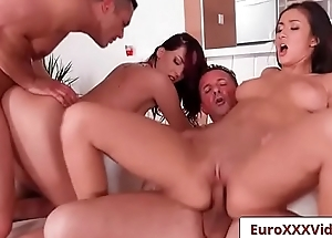 Euro Sex Party Fuck - Pussy For Breakfast with Lyen Parker and Darcee Lee-07