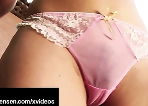 Penthouse Pet Jelena Jensen Oils Up Boobs &amp_ Pussy On touching France!