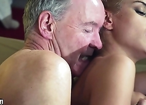 Old Man Dominated wide of sexy hot toddler in old young femdom hardcore fucking