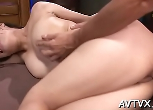 Astonishing asian cowgirl riding