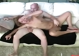 Tanned Sis Getting Fucked on the Sofa