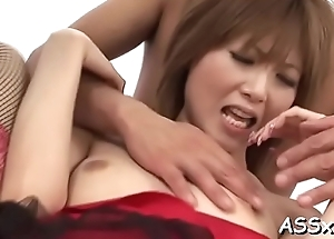 Mind-blowing oriental 3some