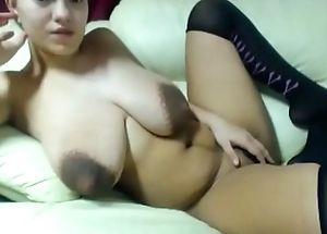 Newly giving birth  mom plays porn on cam