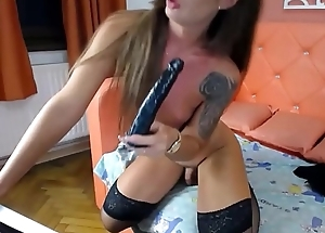 Inked Shemale Demiurge Solo - Webcam Show