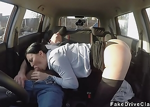 Corroded muff Milf examiner bangs in car