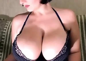 busty woman with lactating tits