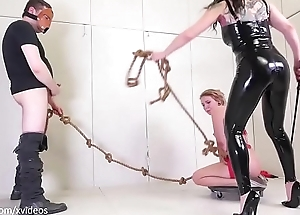 Tug be worthwhile for Whore: yanked in the air and forth for blowjobs and punishment (Olivia Kasady)