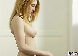 Stunning slender cutie gets her yummy cunt plus little anal penetrated