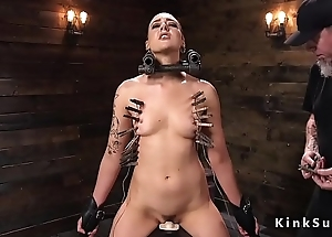 Slave gets shaved and clamped