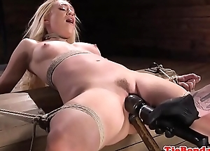 Blonde s&m sub punished with vibrator toying