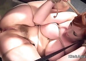 Huge gut redhead slave gut whipped