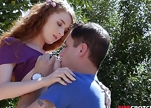 Redhead Teen Gets Fucked Outdoor