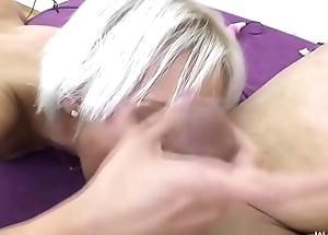 Euro MILF Cecilia Scott does rimjob together with has huge orgasms
