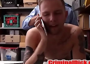 Tatted College Especially bettor caught and fucked bareback by Cop