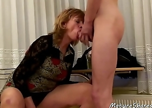 Mature Lady Sucked Her Step-son'_s Dick