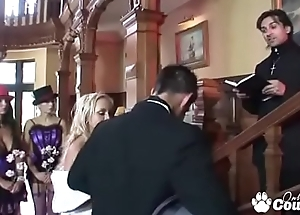 Horny British MILFs Have An Anal Orgy At A Wedding