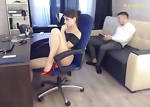 Hot Account Manager &amp_ His Boss - Live foreigner Office