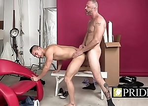 Gay pride and love shown by a nice bareback action-1