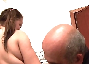 Come on sweetheart, suck your old daddy'_s cock!