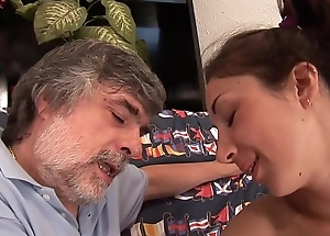 Harmful originator gropes her daughter and convinces her to suck his cock