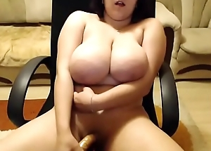 Immense tits bbw toying herself so tease on webcam